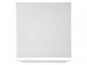 Piatto Quadrato In Porcellana, 38x38 Cm, Bianco