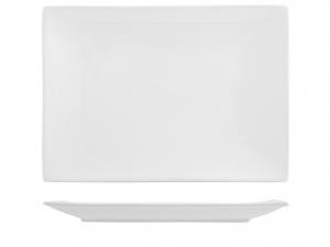 Piatto In Porcellana Bianco Rettangolare Cm37x27 B1087/hp