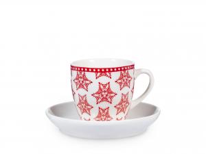 Confezione 6 Caffe' Nbc Grace Rosso Con Piatto Cc100