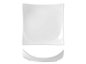 Piatto Quadrato In Porcellana, 22,5x22,5 Cm, Bianco