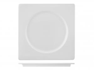 Piatto In Porcellana, 23x23 Cm, Bianco