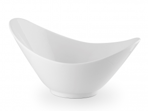 Ciotola Ovale In Porcellana, 26 Cm, Bianco