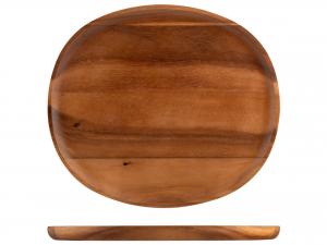 H&h Piatto Acacia Ovale, 29.5x33cm
