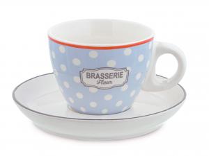 H&h Confezione 4 Tazze Tè Nbc Brasserie Con Piattini Cc240