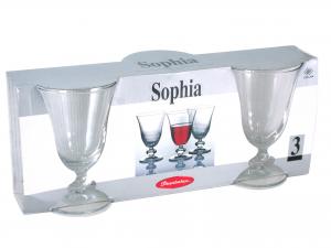Confezione 3 Calici In Vetro Sophia Acqua 25 44479  L