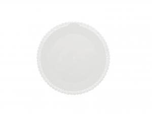 3 Vassoi Trinati Bianco Tondo Cm20 040a