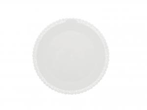 3 Vassoi Trinati Bianco Tondo Cm25 042a