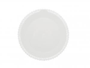 3 Vassoi Trinati Bianco Tondo Cm30 044a