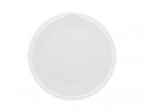 3 Vassoi Trinati Bianco Tondo Cm32 045a