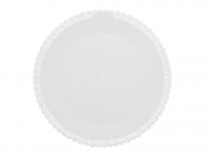 3 Vassoi Trinati Bianco Tondo Cm38 047a