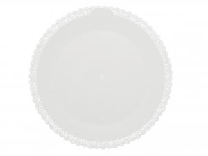 3 Vassoi Trinati Bianco Tondo Cm40 048a