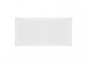 3 Vassoi Trinati Bianco Rettangolare 26x13 055a