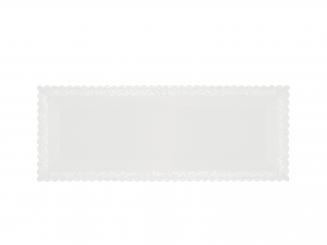 3 Vassoi Trinati Bianco Rettangolare 35x13 062a