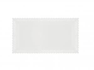 3 Vassoi Trinati Bianco Rettangolare 30x16 057a