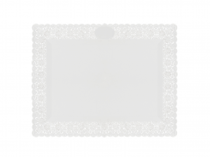 3 Vassoi Trinati Bianco Rettangolare 35x26 051a