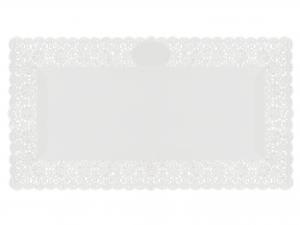 3 Vassoi Trinati Bianco Rettangolare 50x26 060a