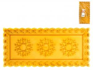 3 Vassoi Stella Ambra Rettangolare Cm30x15