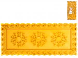 3 Vassoi Stella Ambra Rettangolare Cm35x15
