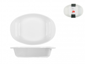 Pirofila Porcellana Bianco Ovale Cm20x23  5001h