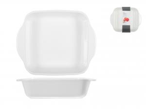 Pirofila Porcellana Bianco Quadro Cm22     5115h