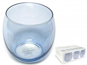 H&h Set 6 Bicchieri In Vetro Bubbly Sky Acqua Cc 460