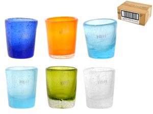 Confezione 6 Bicchieri In Vetro Giada Col/ass Liq 05