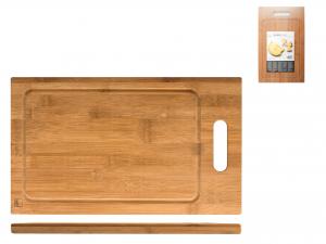 H&h Tagliere Bambu' Rettangolare Con Bordo Cm40x24