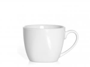 Confezione 4 Caffe' Porcellana Bianco Senza Piatto Cc90
