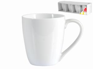 Confezione 4 Mug Porcellana Bianco Cc380