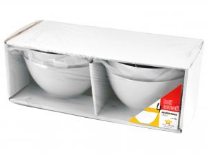 Confezione 4 Bolo Cereali Porcellana Bianco Cm15