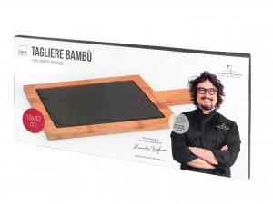 H&h Tagliere Ardesia Bambu' Alessandro Borghese 19x42