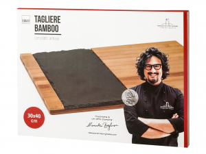H&h Tagliere Ardesia Bambu' Alessandro Borghese 30x40cm