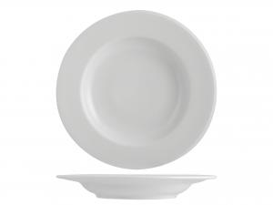 12 Piatti In Porcellana Merano Bianco Fondo Cm22