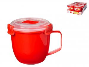 Mug Polipropilene Microwave Con Coperchio Lt0,585   1142