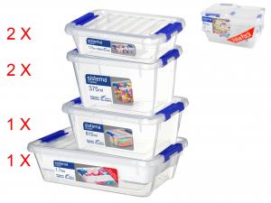 Confezione 6 Contenitore In Polipropilene Storage Small