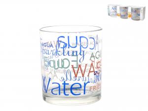 Confezione 3 Bicchieri In Vetro Decoro Mix Water
