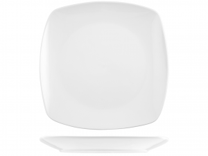 Piatto In Porcellana Bianco Quadrata Cm32       3041
