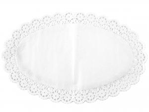 Confezione 6 Sottotorta Ovale 37x24 Bianco Blute