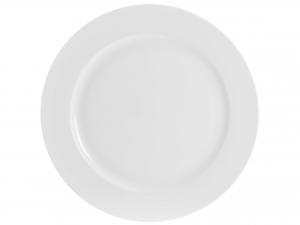 Piatto In Porcellana Bone China, ø 30,5 Cm, Bianco