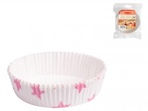 Confezione 12 Pirottin Tortina Cm10 St/rosa