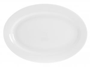 Piatto Ovale In Porcellana Bone China, 32 Cm, Bianco