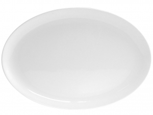 Piatto Ovale In Porcellana Bone China, 37,5 Cm, Bianco