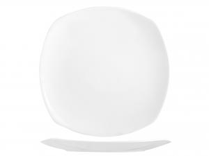 Piatto Quadrato In Porcellana Bone China, 29x29 Cm, Bianco