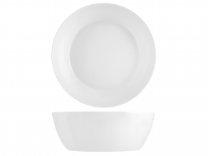Insalatiera Quadrato In Porcellana Bone China, 23x23 Cm, Bia