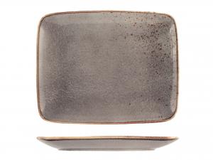 Piatto Reactive In Stoneware, 29x23 Cm