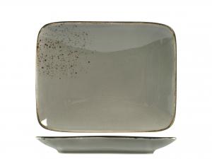 Piatto Reactive In Stoneware, 22x17 Cm