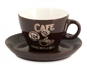 Home Confezione 4 Cappuccio Con Piatto Decorazione Cafè Marr