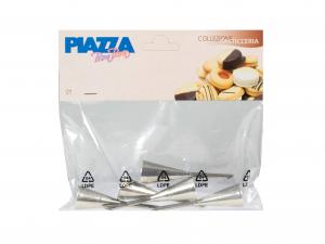 Confezione 5 Cornetti Inox A Imbuto   277100