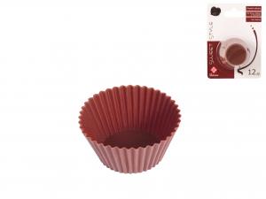 Confezione 12 Pirottini Silicone Choco Cm5 F986m