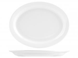 Piatto In Porcellana Bianco Ovale Cm26       6151